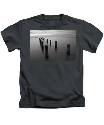 Jetty At Sunset Kids T-Shirt