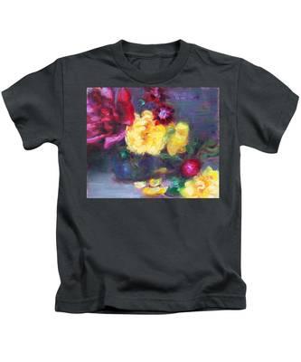 Lemon And Magenta - Flowers And Radish Kids T-Shirt