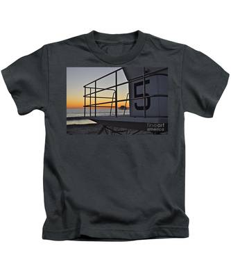 Kids T-Shirt featuring the photograph Lifeguard Tower 5  by Bridgette Gomes