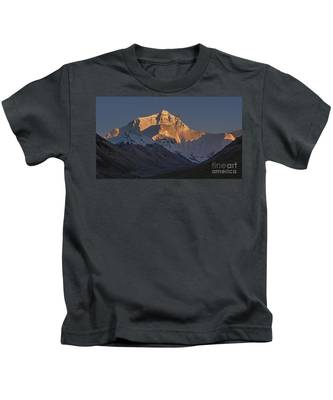Mount Everest At Dusk Kids T-Shirt