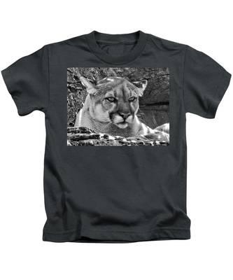 Mountain Lion Bergen County Zoo Kids T-Shirt