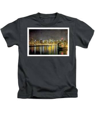 Nyc At Night Kids T-Shirt