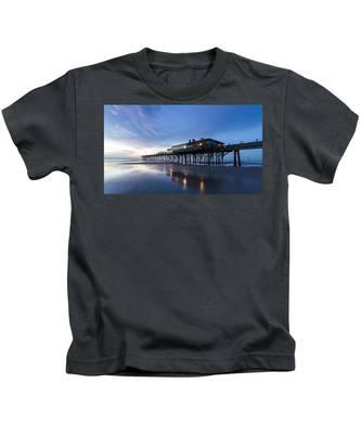 Pier At Twilight Kids T-Shirt
