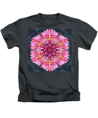 Kids T-Shirt featuring the digital art Pink Lightning by Derek Gedney