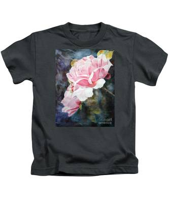 Pink Rose Caroline Kids T-Shirt