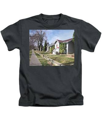 Quiet Street Waiting For Spring Kids T-Shirt