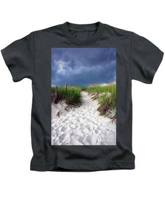 Sand Dune Under Storm Kids T-Shirt