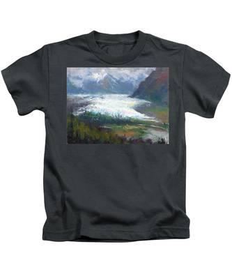 Shifting Light - Matanuska Glacier Kids T-Shirt