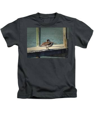 Sitting On The Dock Of The Bay Kids T-Shirt