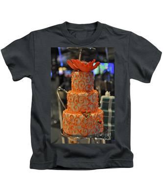 Three Tier Cake Kids T-Shirt by Bridgette Gomes