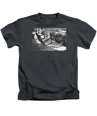 Wooden Front Porch Swing Kids T-Shirt