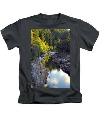 Yuba River Twilight Kids T-Shirt