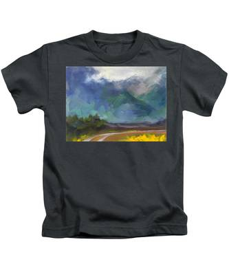 At The Feet Of Giants Kids T-Shirt