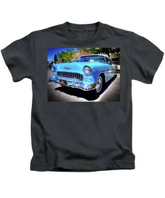 1955 Chevy Baby Blue Kids T-Shirt