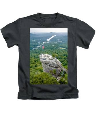 Lake Lure And Chimney Rock Landscapes Kids T-Shirt