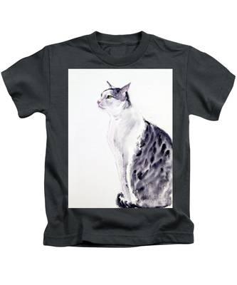 Alert Cat Kids T-Shirt