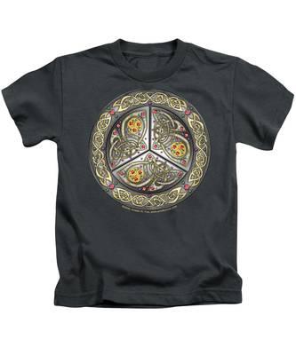 Bejeweled Celtic Shield Kids T-Shirt