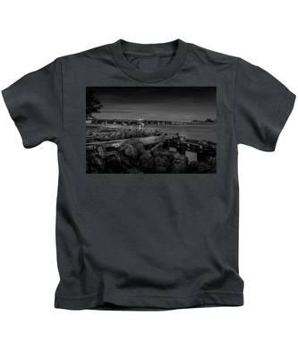 Bridge To Longboat Key In Bw Kids T-Shirt