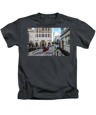 Cement Truck In The Itty-bitty-city Kids T-Shirt