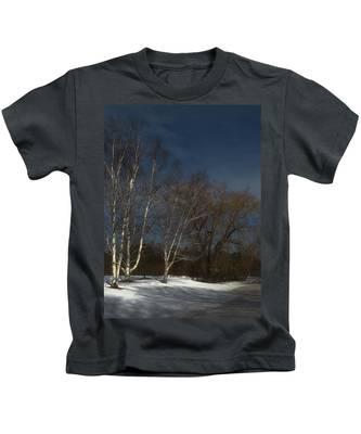 Country Roadside Birch Kids T-Shirt