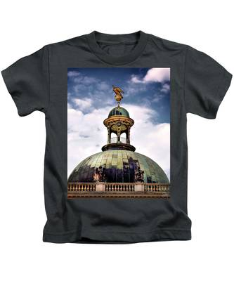 Kids T-Shirt featuring the photograph Cupola At Sans Souci by Endre Balogh