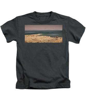 Kids T-Shirt featuring the photograph Dead Sea Coastline 1 by Endre Balogh