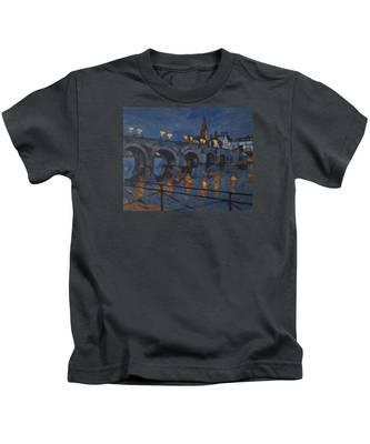 December Lights Old Bridge Maastricht Acryl Kids T-Shirt