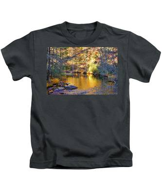 Fishing On The Cullasaja By H H Photography Of Florida Kids T-Shirt