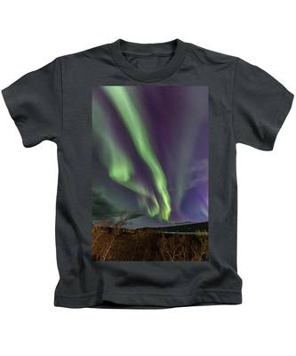 Flowing Aurora Kids T-Shirt