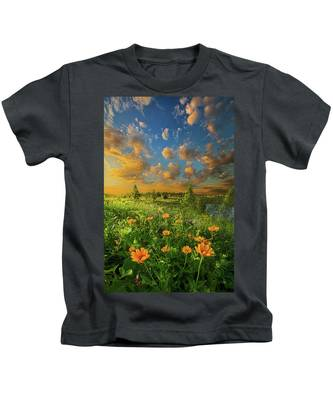 For A Moment All The World Was Right Kids T-Shirt