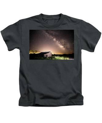 Galaxy In Star Valley Kids T-Shirt