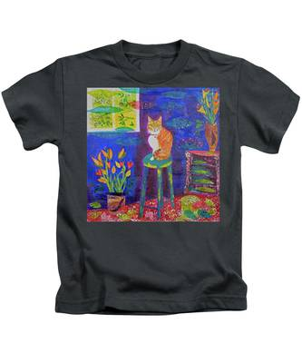 Ginger The Cat Kids T-Shirt