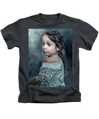 Girl In Lace Kids T-Shirt
