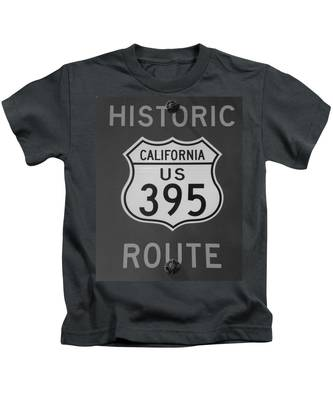 Kids T-Shirt featuring the photograph Historic 395 by Bridgette Gomes