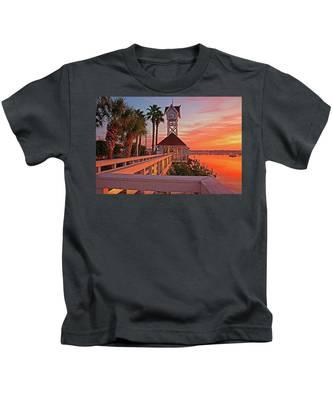 Historic Bridge Street Pier Sunrise Kids T-Shirt