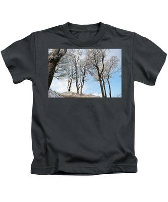 Icy Trees Kids T-Shirt