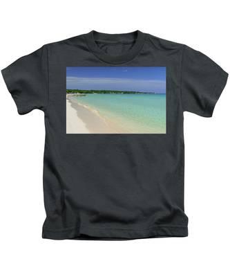 Seven Mile Beach, Negril Kids T-Shirt
