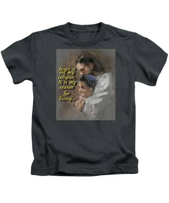 Jesus Is Not My Religion Kids T-Shirt by Charlie Roman