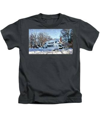 Leacock Museum In Winter Kids T-Shirt