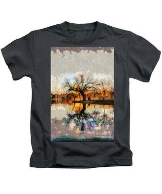 Lonely Tree And Its Thoughts Kids T-Shirt