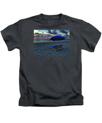 Lounging By The Sea Kids T-Shirt