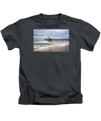 Manhattan Pier With Two Tankers Kids T-Shirt