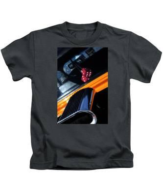 Midnight Dice In A Hot Rod Kids T-Shirt