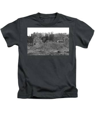 Mill At Clinton Among The Reeds Kids T-Shirt
