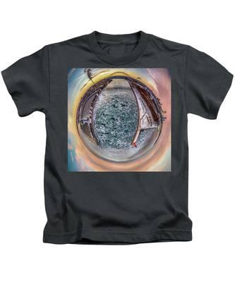 Milwaukee River Little Planet Kids T-Shirt