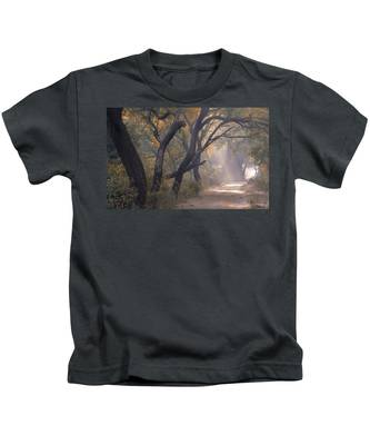 Misty Morning, Bharatpur, 2005 Kids T-Shirt