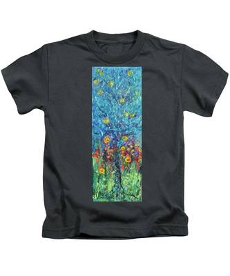 Moon Flowers Kids T-Shirt