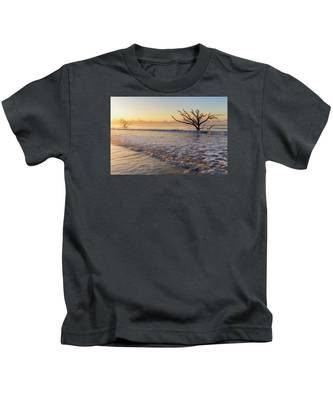 Morning Glow At Botany Bay Beach Kids T-Shirt