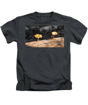 Mushrooms On A Branch Kids T-Shirt