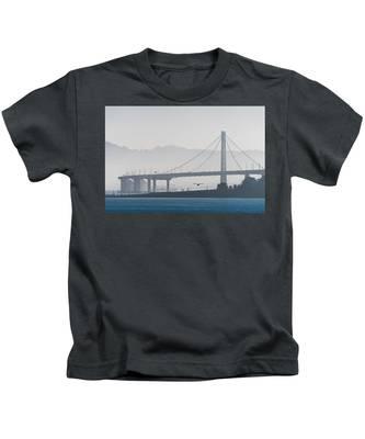 Oakland Bay Bridge Kids T-Shirt